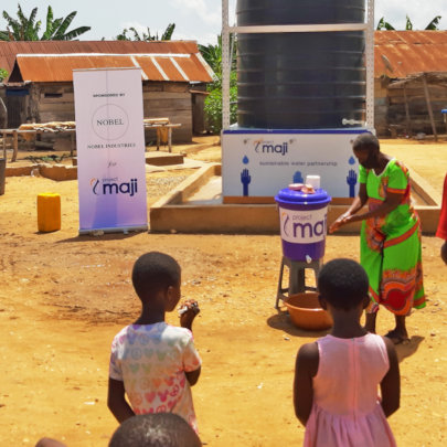 Handwashing and soap distribution drive