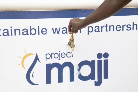Otuaplem can now fetch water straight from a tap!
