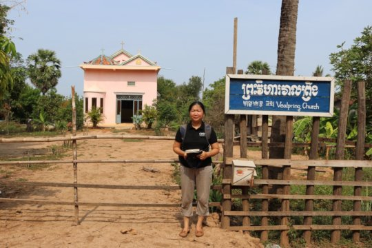 CWEF's Kanhchana Thoy at Veal Pring church
