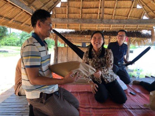 Expressing our gratitude to local partner Koy Thea
