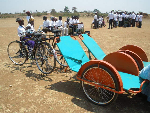 Save Mother & Child lives with bicycle ambulances