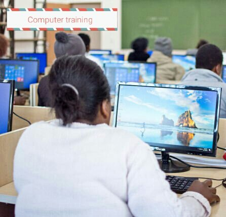 Computer literacy for 600 youth and orphans