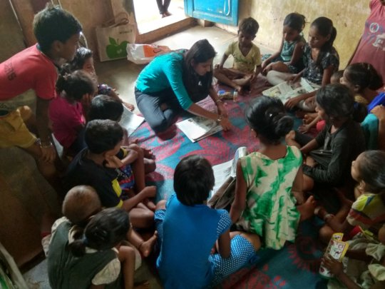 Paper bag making workshop by Ms.Swapnali