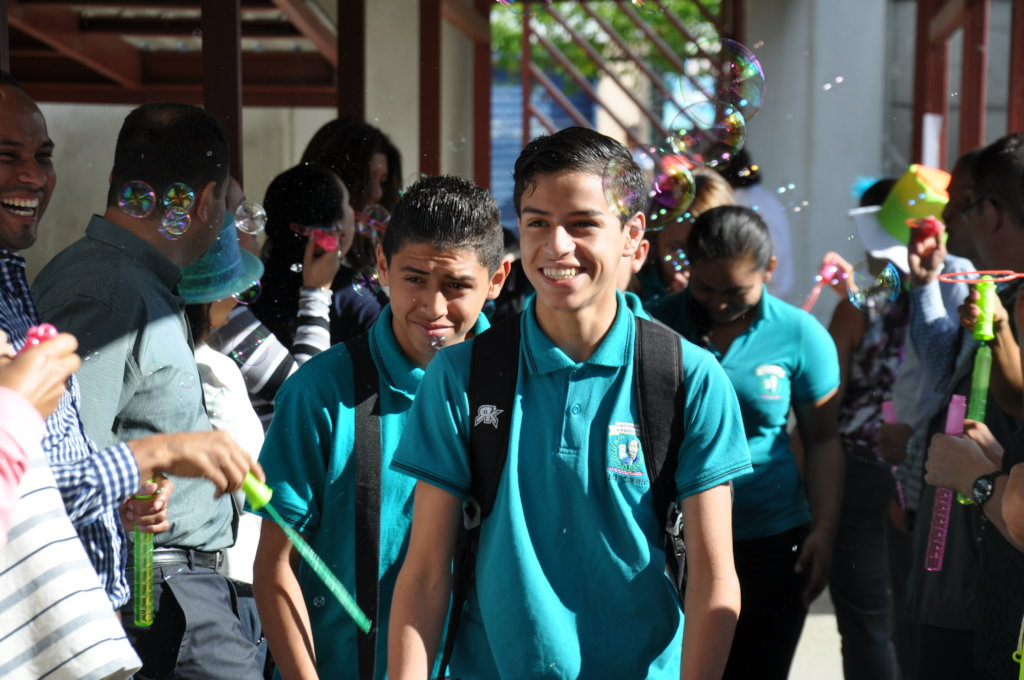 Students in San Jose, Costa Rica