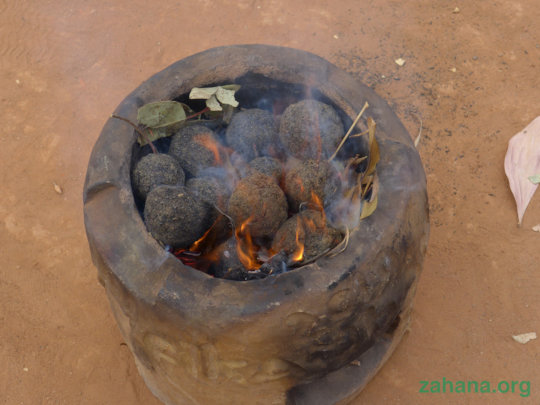 An impoved cookstove with bio-charcoal