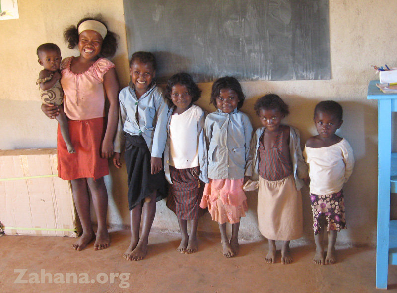 Seven sisters in the school in Fiadanana