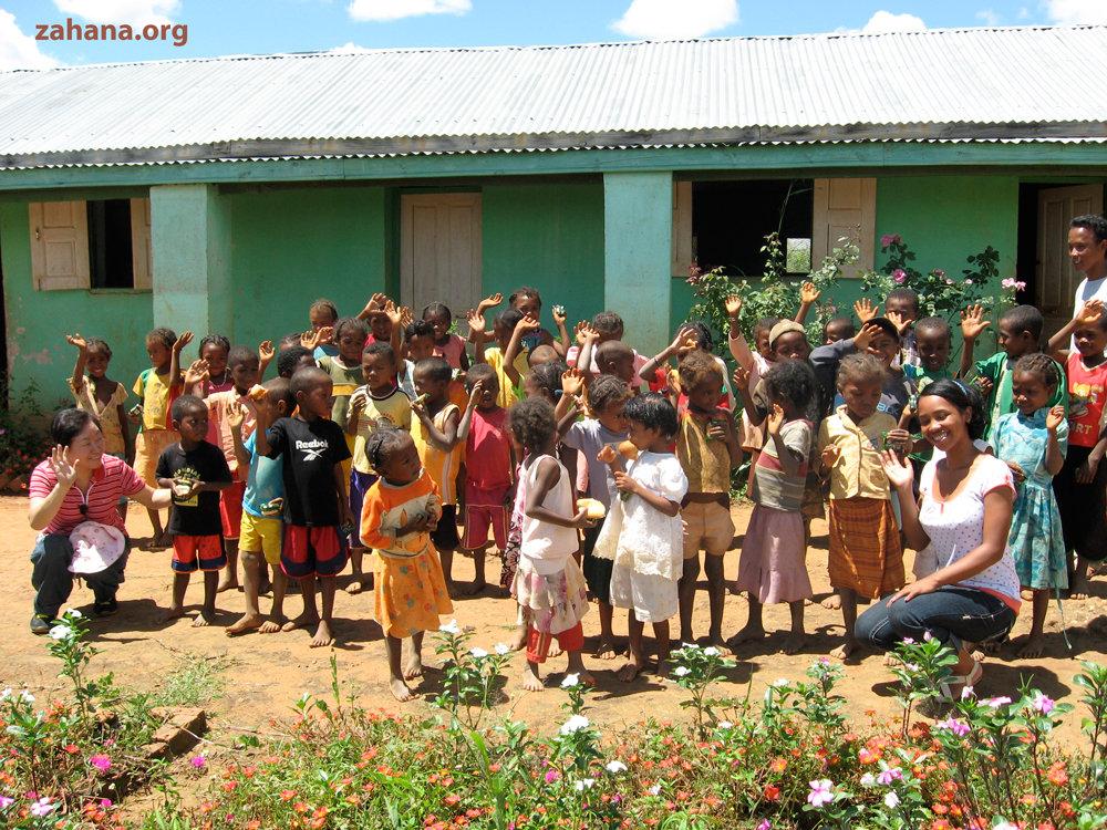 Children at their school in Fiadanana