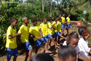 The soccer club in the Fiadanana School