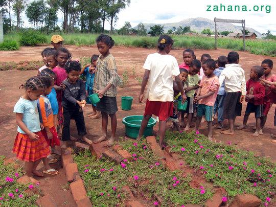 Fixing the school garden