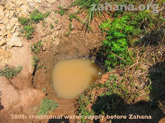 Water supply before Zahana until 2005