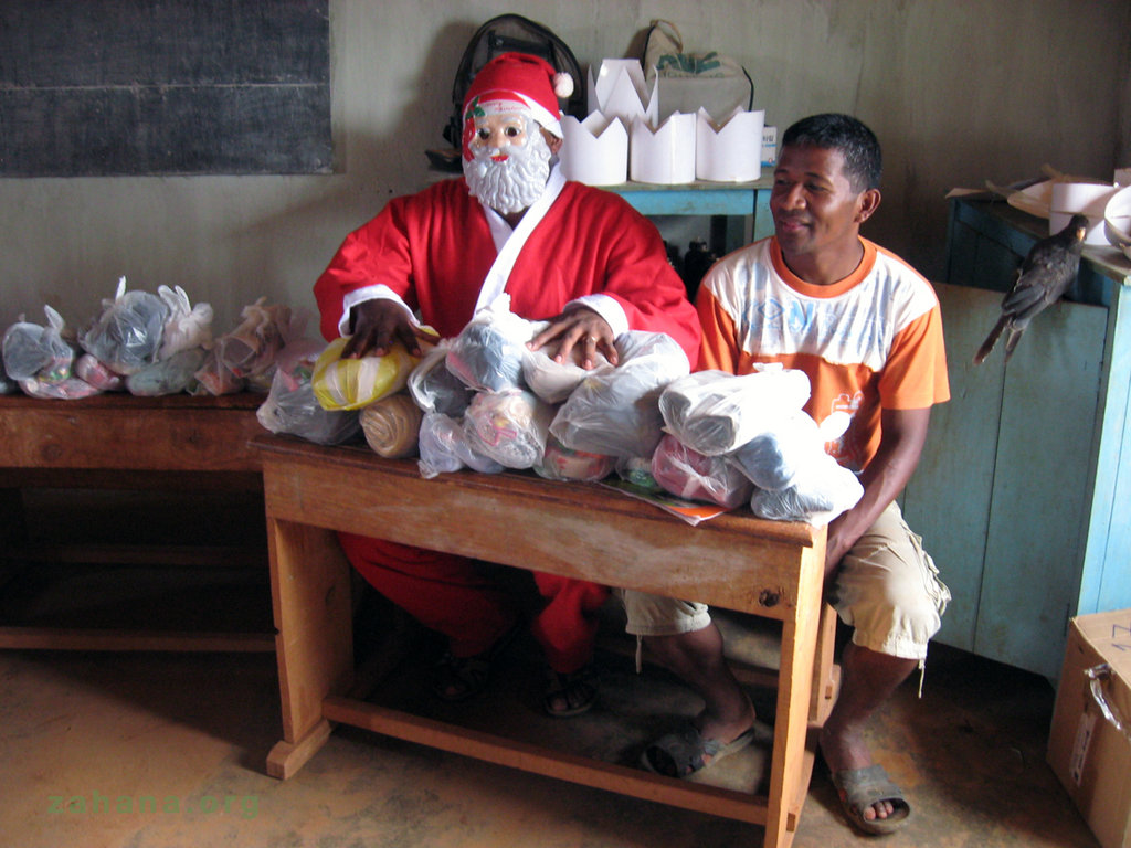 Santa with his gifts