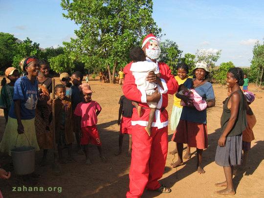 Santa makes everybody laugh