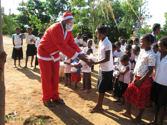 Santa has gifts for people big and small