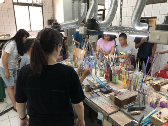Youth enjoys art and making their own  souvenir
