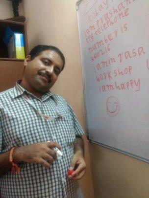 Prashanth enjoying his writing