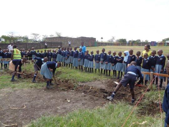 Children Breaking the Ground