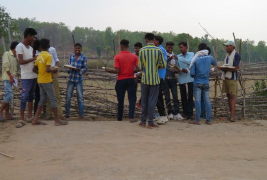 Young villagers with Tigers4Ever Education Packs