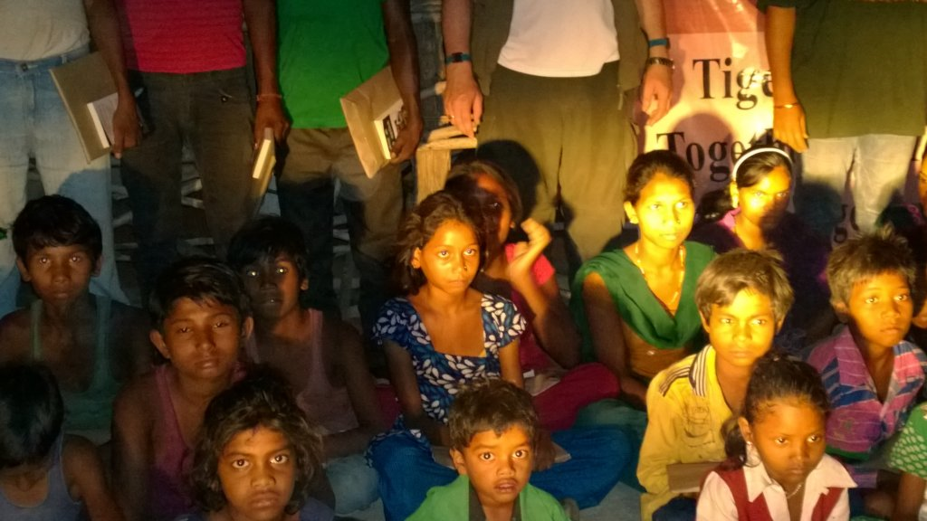 Children of Bandhavgarh with our Education Packs