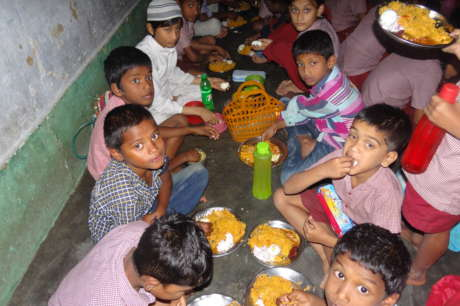 Support for Mid-day Meal to 85 working children