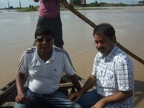 Deepak in the flooded fields of North Bihar