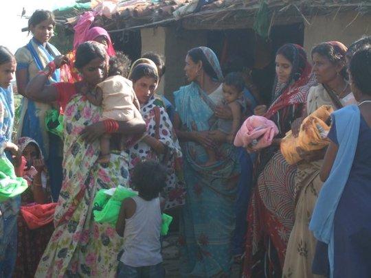 Flood affected villagers