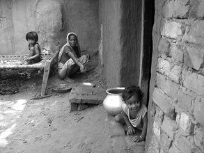 Poor Family in Flood Affected District