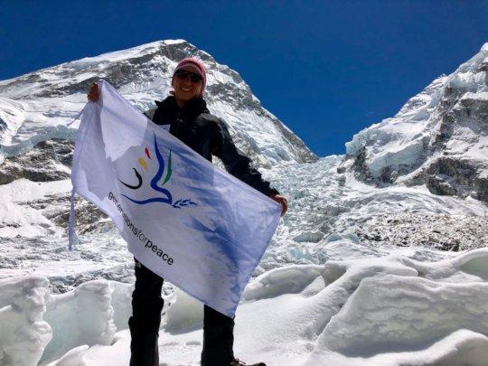Lama Climbing Mount Elbrus