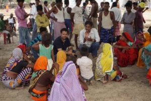 Villagers meeting in Northern India