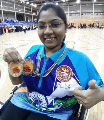 Bhavina with Medals