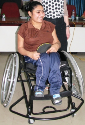 Ms. Sonal is with imported sport wheelchair