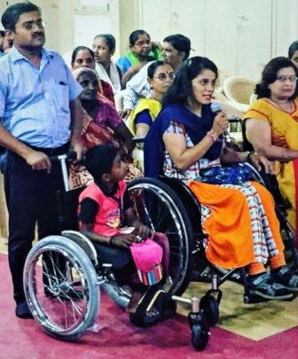 Customized Wheelchairs are distributed.