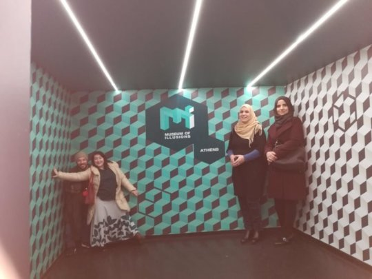 Class visit to the Museum of Illusions!