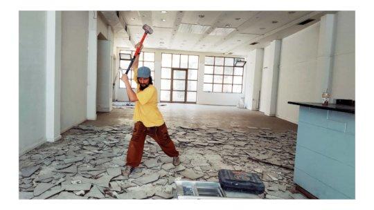 Nadir breaking tiles.