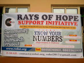 Rays Of Hope Support Initiative-Community Banner