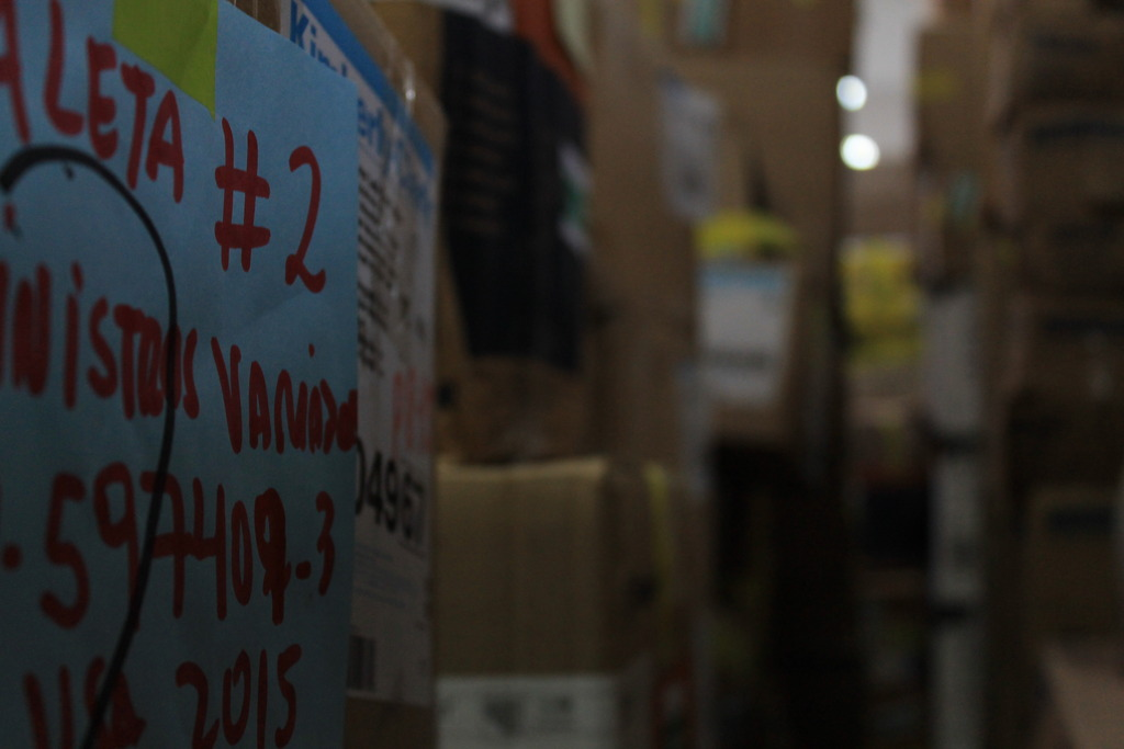 VIDA Peru warehouse full of inventoried supplies!