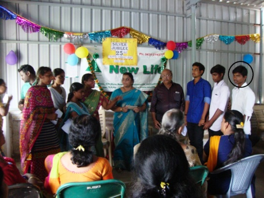 Ganesh receiving education support last year