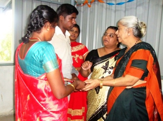 Ulaganathan studying B. Com. First Year supported