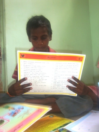 Danushkumar studying in the special school