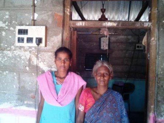 Malathi in her home