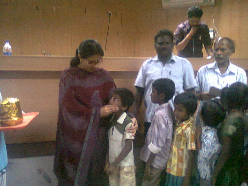 Our child being appreciated by District Collector