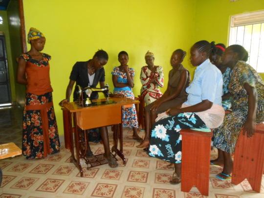 Women acquire tailoring skills