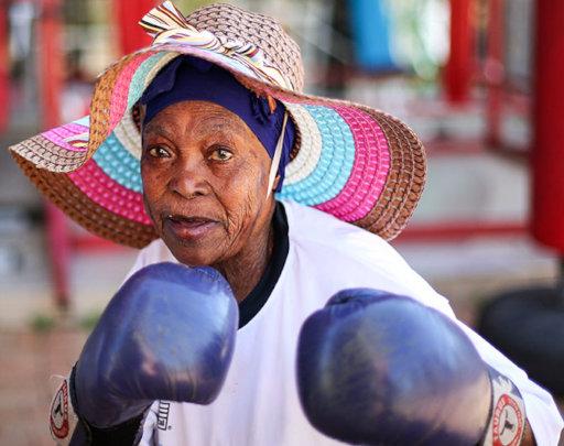 Boxing grannies