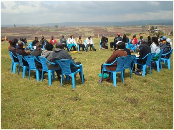 Workshop at Peace Centre on Mt Elgon