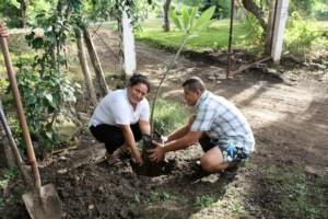 Staff Tree-Planting Ceremony
