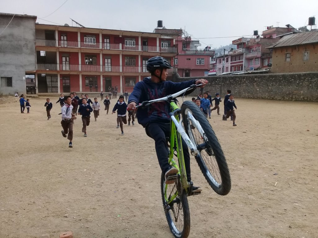 Support 24 Nepali Children To Learn To Ride a Bike