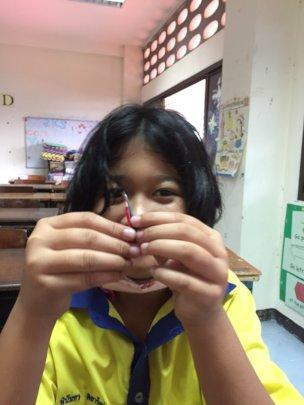 Making mini pencils in Coconut Art Club