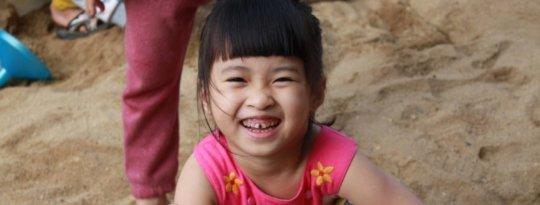 A happy little girl!
