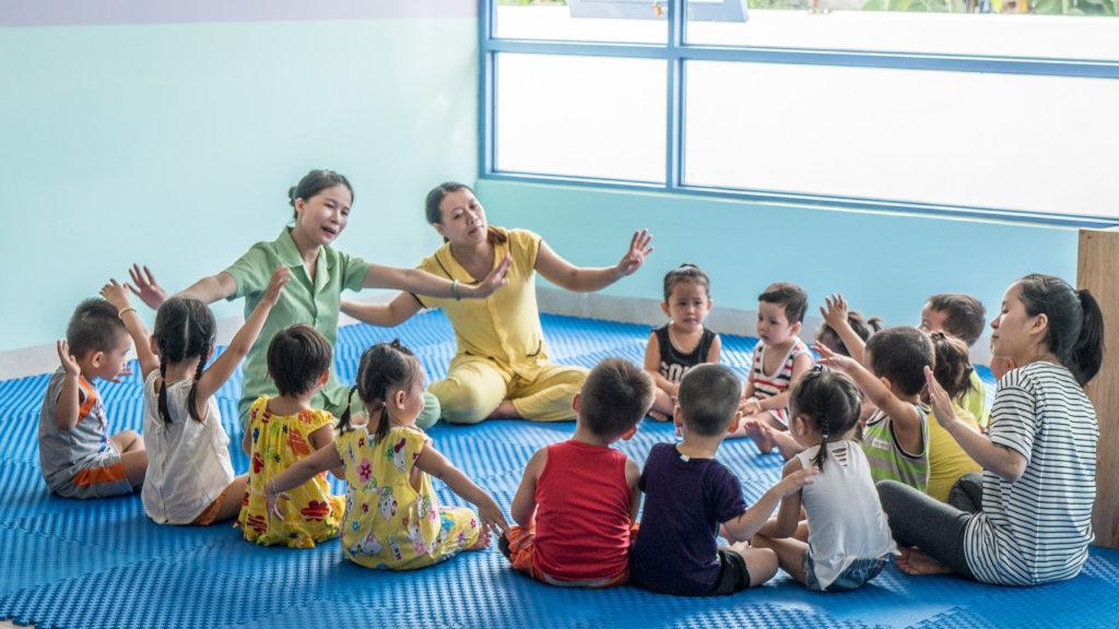 Help care for preschoolers in Vietnam