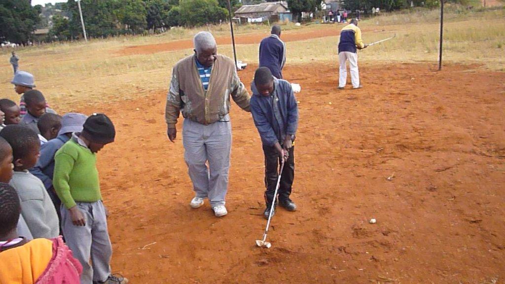 Golf Clinic for 100 Kids in Nigeria