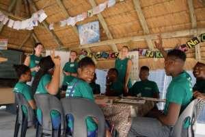 Children & Volunteers in the classroom